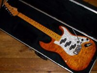 G & L Comanche USA Stratocaster 2002 quilted maple drop top with birdseye maple neck