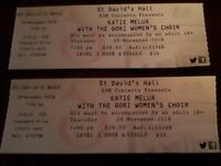 2 tickets for sale Katie Melua concert...Cardiff