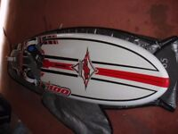 JP Supersport 100 litre windsurfing board in great condition for sale.