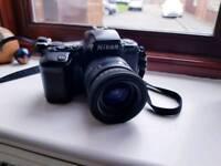 Nikon F-601 AF Film camera + flash