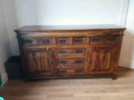 Indian hardwood sideboard