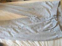 Plain grey tracksuit bottoms
