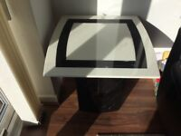 Marble lamp/side table