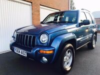 2004 04 Jeep Cherokee Limited 2.5 Turbo Diesel++Towbar++Full Leather Long MOT not crv x trail shogun