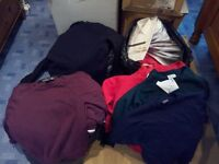 school and sports clothing various sizes mixed selection job lot / market stall / boot sale
