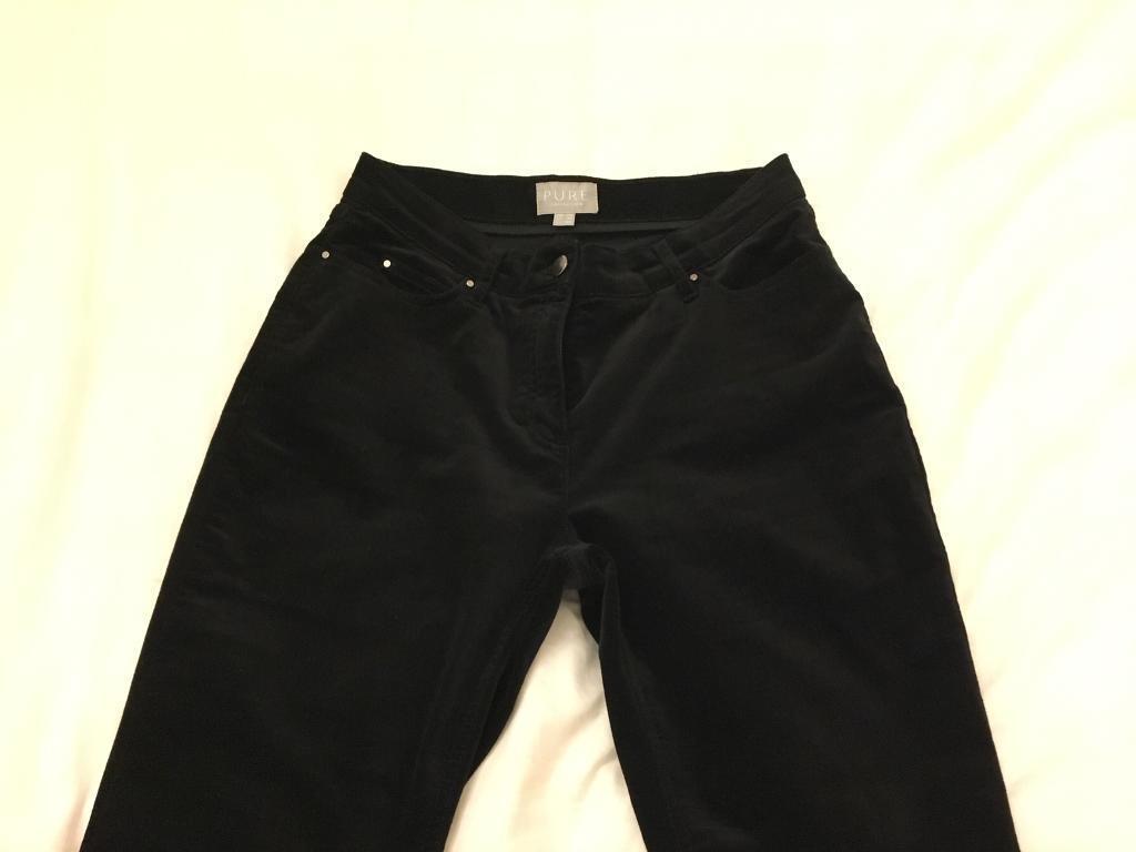 Washed velvet jeans