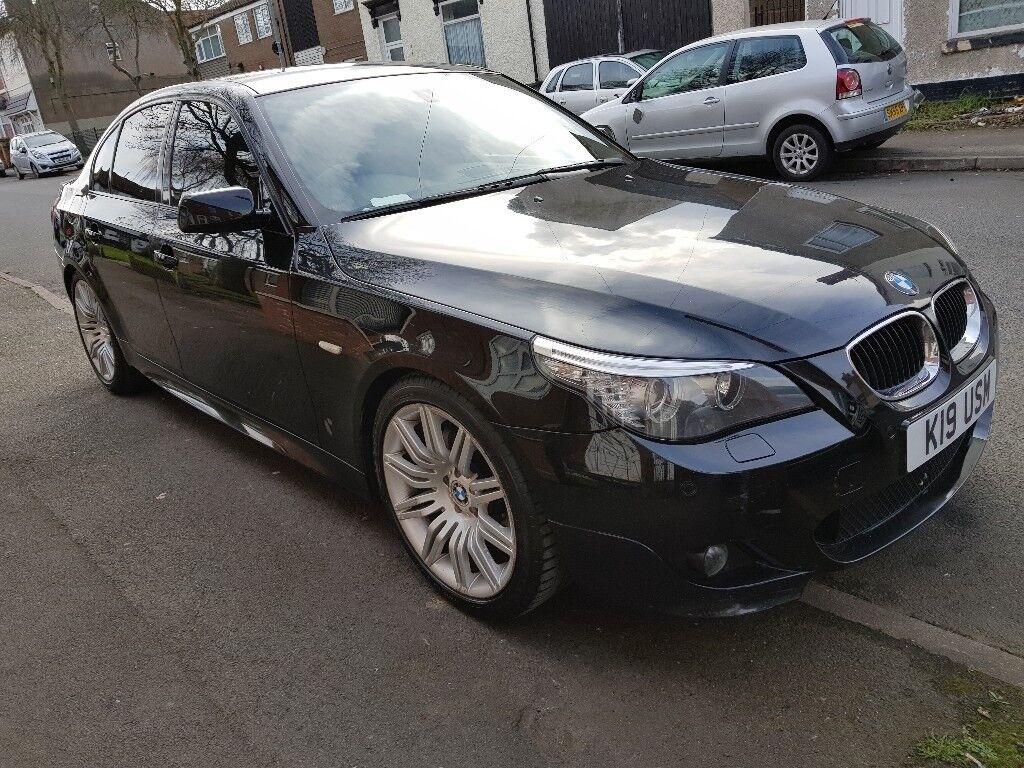 bmw 5 series 520d m sport 2 0 auto black 2008 diesel. Black Bedroom Furniture Sets. Home Design Ideas