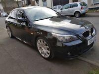 BMW 5 SERIES 520D M SPORT 2.0 AUTO BLACK 2008 DIESEL FACELIFT LCI M5 *58 REG*E60