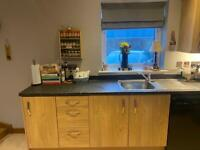 Kitchen units and worktops. Ready to go pre built.