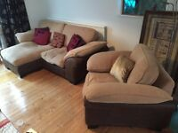 DFS Sofa and Armchair Suite