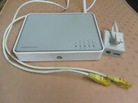 THOMPSON WIRELESS ROUTER WITH CABLE AND FILTER