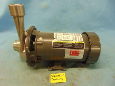 Teel Centrifugal Pump Xz47 Franklin Electric Motor 1313007188 3hp 208-230460v