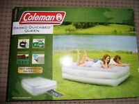 BRAND NEW COLMANS RAISED QUEEN AIRBED