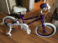 "'Belle' Sonic 16"" Girls Bike With Stabilisers, Assembled Ready, New RRP £90"