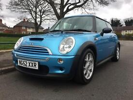 2003 52 Mini Cooper S 1.6 supercharged. Low mileage. 12month MOT. full service history
