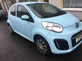 Baby blue Citroen C1 Limited Edition