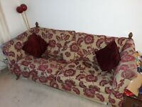 Sofa with matching cuddle chair, needs a clean hence £250