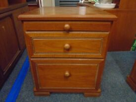 stag bed side cabinet.