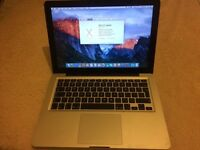 "MacBook Pro 13"" A1278 Mid 2010 2.4Ghz Intel Core 2 Duo RAM:4GB HDD:500GB"