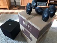 KEF 1005.2 surround sound with KEF KUBE 1 Subwoofer