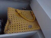 yellow fiorelli handbag