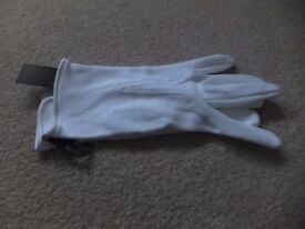 John Lewis mens white dress gloves, extra large - brand new with tag
