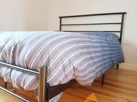 Comfortable Double bed frame AND mattress