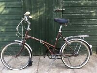 Vintage folding bicycle. Dawson Kingpin