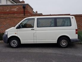 Volkswagen Transporter T5 1.9 TDI + 2004/04 + (LHD) LEFT HAND DRIVE + 9 SEATER + UK REG + 1 OWNER +