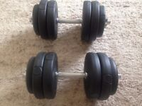 2 sets of Max Fitness weights - 8 x 2.5kg and 4 x 1.25kg