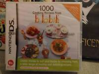1000 recipes ds game new and sealed