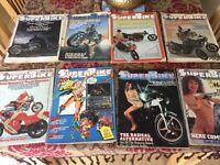 8x Superbike Magazines from 1979.