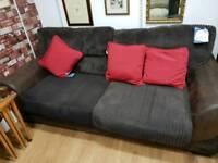 Large sofa in Brown cord