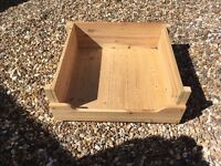 Hand made wooden dog bed