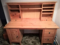 Desk with storage unit - Excellent condition - Wood - Collection IP2
