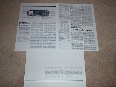 Nakamichi RX-505 Review, 1984, 3 pgs, RARE! Full Test for sale  Olmsted Falls