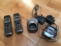 AS NEW Panasonic PNLC1010 Cordless Handsets Base Stations