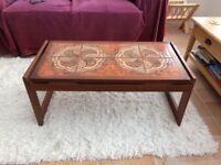 Tiled top coffee table. 'Vintage'