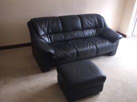 Leather suite 3+1+1+footstool