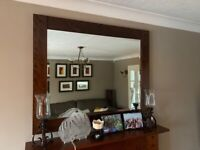 Next Fireplace and Mirror (freestanding)