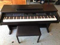 Good quality hardly used Yamaha Clavinova for sale. Excellent condition and including the stool.