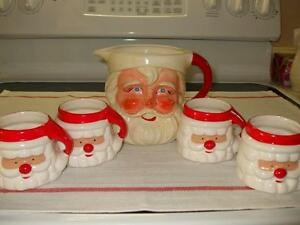 Santa Face Mug and 4 cups. Cambridge Kitchener Area image 1
