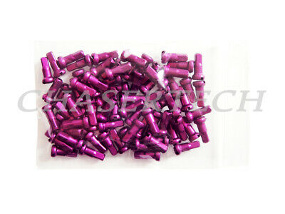 100psc Bicycle 7075 Alloy Spoke Nipples 14G 2.0mm 16mm Long Red Black Blue Purp
