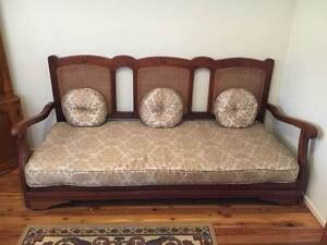 3 Seater Timber Sofa with Single Pull Out Bed Dean Park Blacktown Area Preview