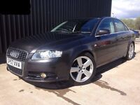 2007 (57) Audi A4 2.0 TDI S Line 4dr Service History 12 Months MOT SAT NAV May Px Finance Available