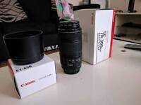 Canon 70-300mm f4-5.6 IS USM Lens - with Lens Hood , UV filter