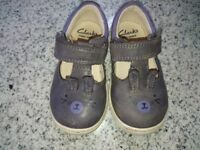 Clarks size 4f and g toddler shoes.