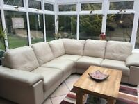 The most comfortable cream/grey corner sofa and chair needs a new home.