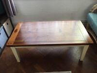 Beautiful Acacia top solid wood coffee table