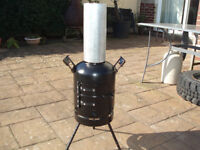 chimnea made out of 12 kg gas bottle